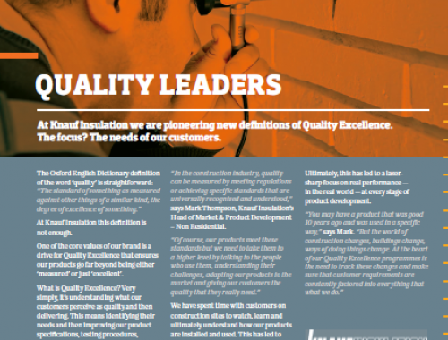 Read more about our quality leaders