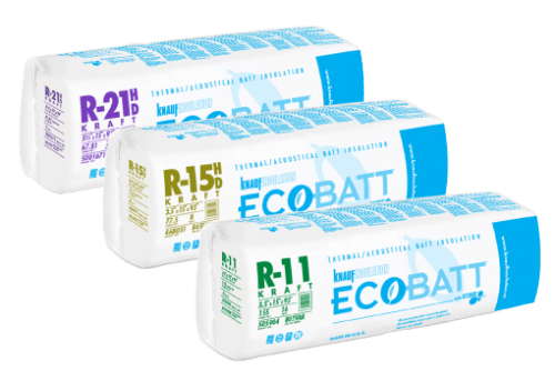 Glass Mineral Wool - KRAFT BATTS - Glass Mineral Wool - EcoBatt 벽체용